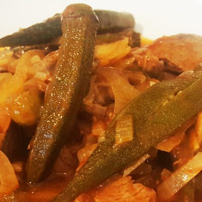 Lamb and Okra Stew - Bamje