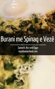Albanian Burani me Spinaq e Vezë