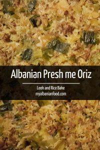 Albanian Leek and Rice Bake