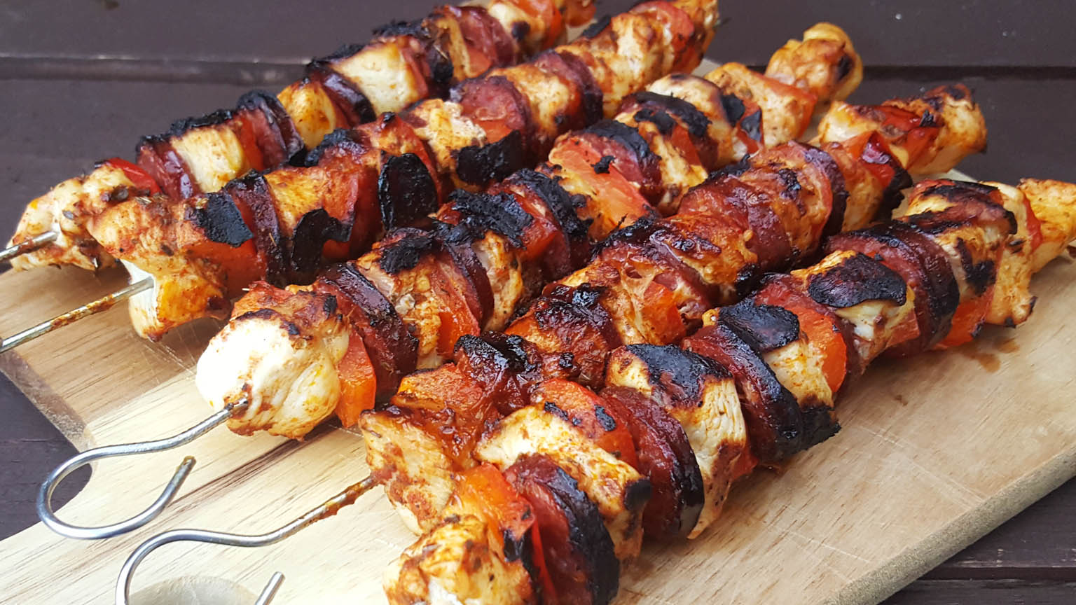 Albanian Chicken Kebabs infused with flavours of Albanian ...